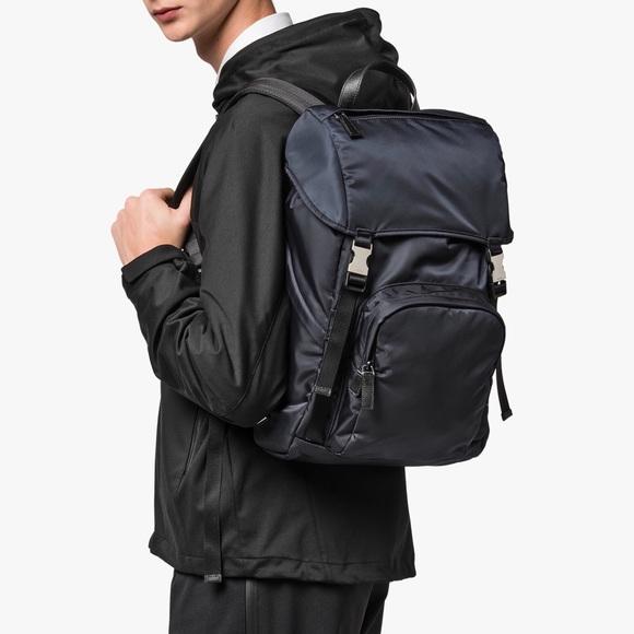 a1ab2425866a5c Prada Bags | Navy Nylon Backpack | Poshmark